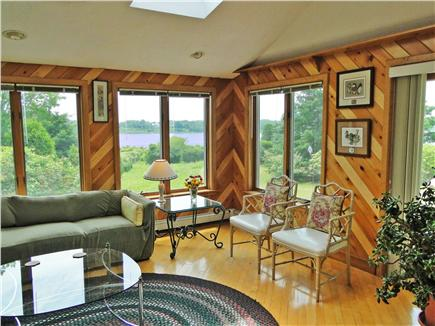 Chatham Cape Cod vacation rental - Living room opens to the deck, offers flat screen TV