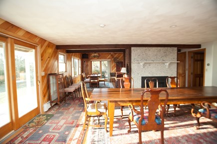 Chatham Cape Cod vacation rental - Dining room with newly renovated fireplace
