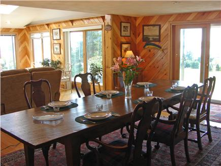 Chatham Cape Cod vacation rental - Large dining room w/ sliders towards water for great breezes
