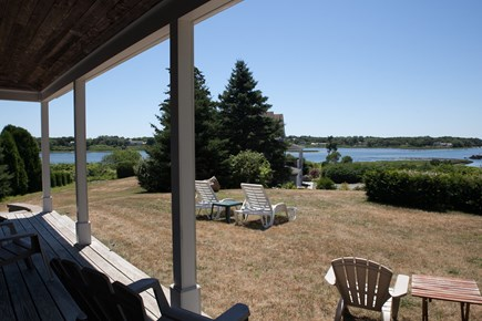 Chatham Cape Cod vacation rental - Covered porch overlooking yard
