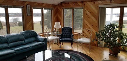 Chatham Cape Cod vacation rental - Panoramic water views from the living room.