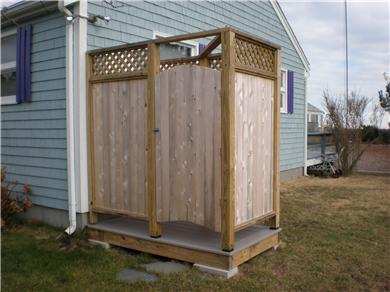 Mashpee, Popponesset Cape Cod vacation rental - Brand new outdoor shower