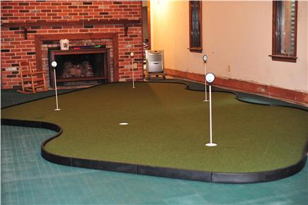 New Seabury New Seabury vacation rental - 14 x18 Foot Putting Green & Poker table in basement