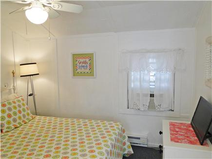 Falmouth Heights Cape Cod vacation rental - Second queen bedroom with flat screen TV, ceiling fan