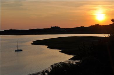 Wellfleet Cape Cod vacation rental - Sunset view of cove and Cape Cod bay beyond