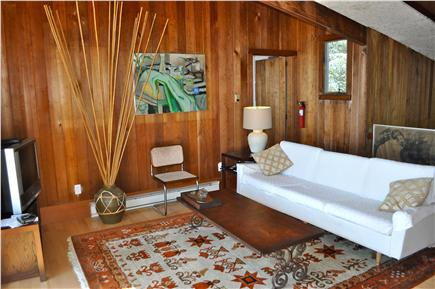 Wellfleet Cape Cod vacation rental - Upper Living Area with television as well as waterview