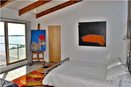 Wellfleet Cape Cod vacation rental - 2nd Master Bedroom with sliding door to upper level deck