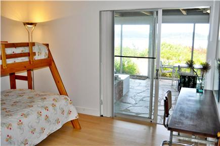 Wellfleet Cape Cod vacation rental - 4th Bedroom with walk out to screened in porch and beach