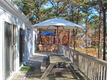 Wellfleet Cape Cod vacation rental - View of Backyard Deck