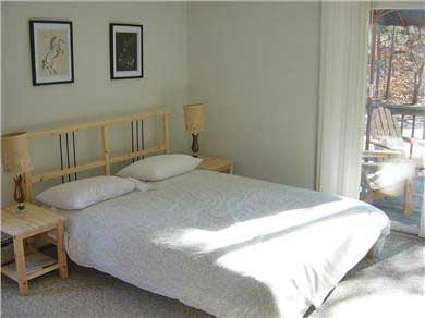 Wellfleet Cape Cod vacation rental - Master Bedroom with Queen and Slider to Deck