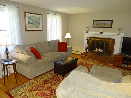 Centerville Centerville vacation rental - Living room with Large HD-TV & Fireplace