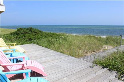 West Yarmouth Cape Cod vacation rental - Deck overlooking private beach and Nantucket Sound