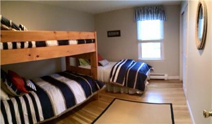 Dennis Cape Cod vacation rental - Second bedroom with one twin and one set of twin bunks.