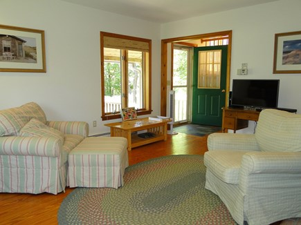 Harwich Cape Cod vacation rental - Living room view, facing front entrance and porch
