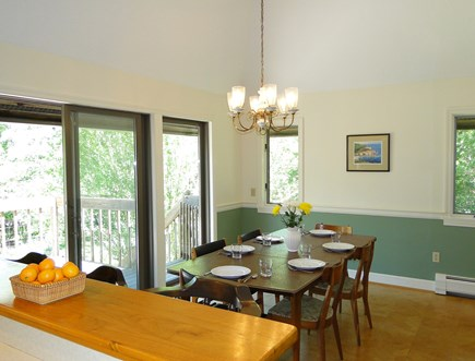 Harwich Cape Cod vacation rental - Spacious, cathedral dining area with sliders to deck