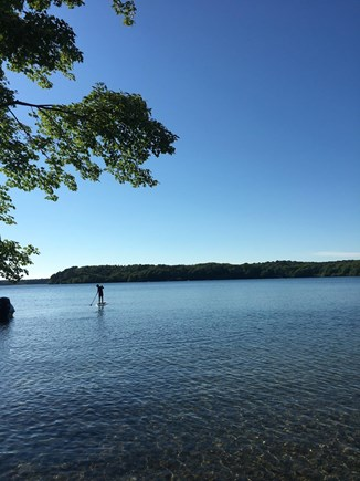 Harwich Cape Cod vacation rental - Walk a few minutes to private section of Long Pond – swim & kayak