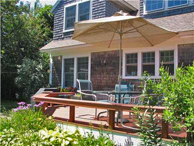Brewster Cape Cod vacation rental - Back deck – room to relax and dine