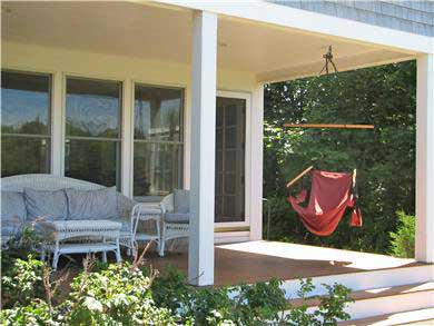 Brewster Cape Cod vacation rental - Front porch (beach side) – walk over the dune, and there you are!
