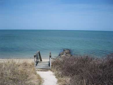 Brewster Cape Cod vacation rental - Path from  front of house to private beach and jetty