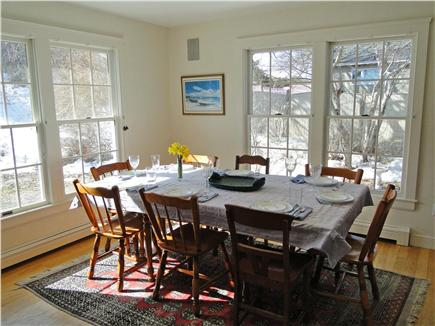 Brewster Cape Cod vacation rental - Dining room table seats 10