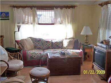 Dennis Cape Cod vacation rental - Family Room With Cathedral Ceiling