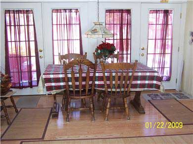 Dennis Cape Cod vacation rental - Open Dining Room With Cathedral Ceiling