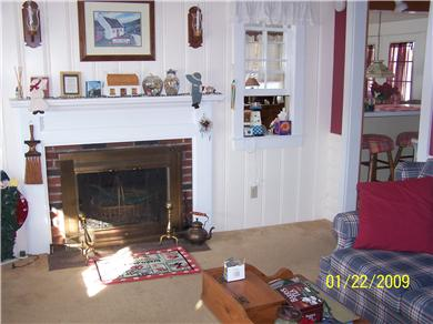 Dennis Cape Cod vacation rental - Dining Room Fireplace