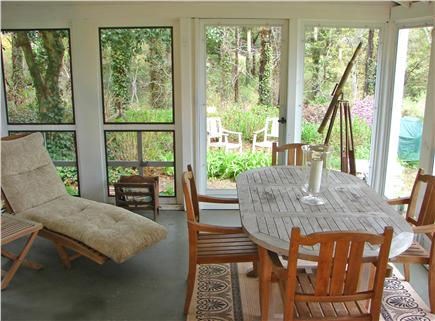 East Orleans Cape Cod vacation rental - Dine outside on screened in porch facing the water views