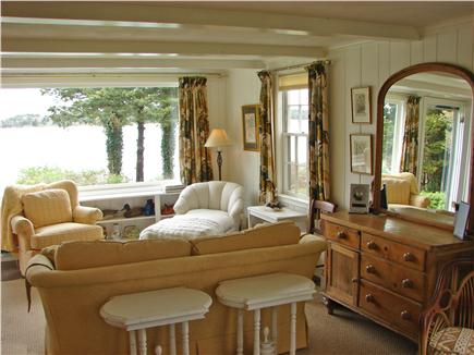 East Orleans Cape Cod vacation rental - Water views from spacious living room with double seating area