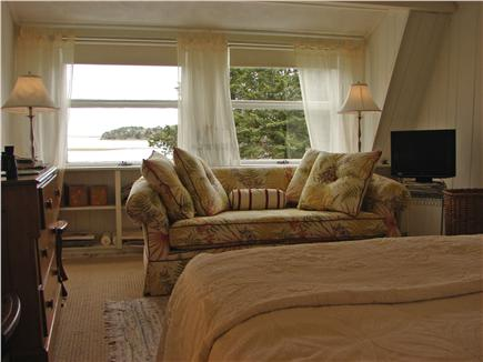 East Orleans Cape Cod vacation rental - Queen bedroom master with sitting area, TV, and water views