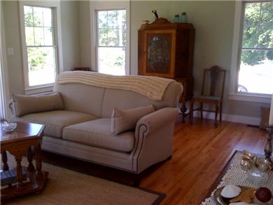 Falmouth, Sippewissett Cape Cod vacation rental - Bright airy living room with sneak ocean views