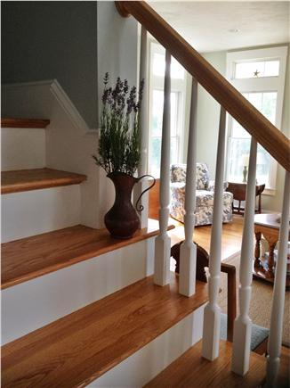 Falmouth, Sippewissett Cape Cod vacation rental - Staircase up to second floor