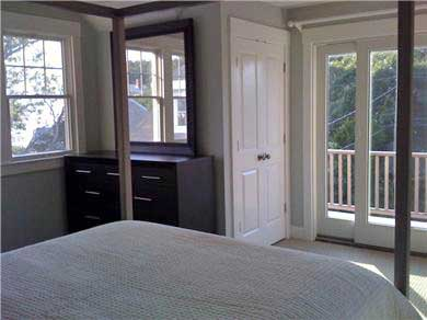 Falmouth, Sippewissett Cape Cod vacation rental - Bedroom with ocean views and sliders to deck