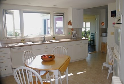 No. Chatham Cape Cod vacation rental - Kitchen looking to eating porch