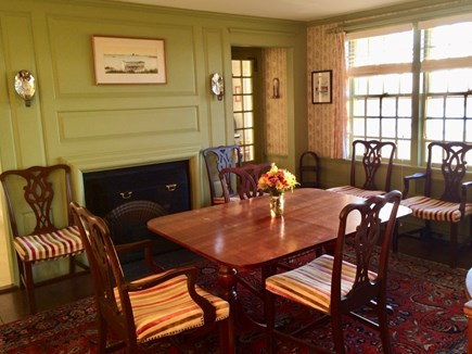 No. Chatham Cape Cod vacation rental - Dining Room w/ocean view, table expands to seat 10.