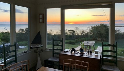 No. Chatham Cape Cod vacation rental - Sunrise from eating porch, seats 12