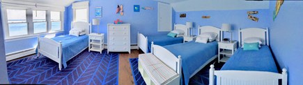 North Chatham Cape Cod vacation rental - Perfect for kids, upstairs bedroom with 4 twins and ocean views