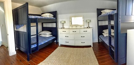 North Chatham Cape Cod vacation rental - Bunk bed room upstairs, 2 sets bunk beds + full, sleeps up to 6