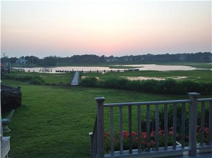 Dennisport Cape Cod vacation rental - Walk down to the dock from the deck