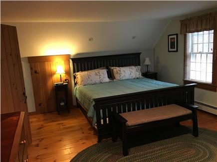 Eastham Cape Cod vacation rental - Master bedroom with accent ligthing and flat screen LCD HD TV
