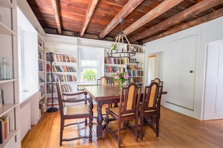 Woods Hole, Falmouth Woods Hole vacation rental - Vintage dining room, perfect for the ultimate bibliophile.