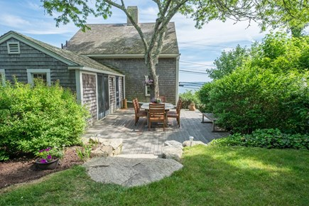 Woods Hole, Falmouth Woods Hole vacation rental - View from behind the house showing deck and view of the water.