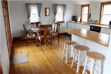 Woods Hole, Falmouth Woods Hole vacation rental - Dine indoors or out from this lovely farmhouse-style kitchen.