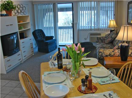 Provincetown Cape Cod vacation rental - Living area overlooking the court yard