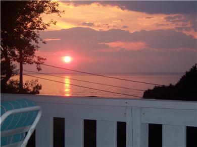 Falmouth Cape Cod vacation rental - View of Sippiwisset sunset from upper deck
