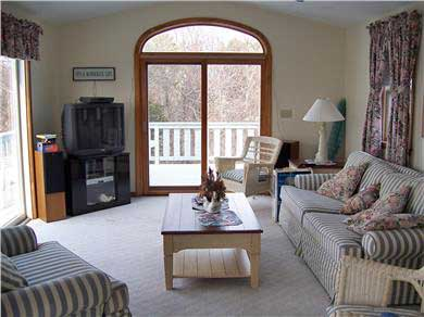Falmouth Cape Cod vacation rental - Upstairs living room with ocean view