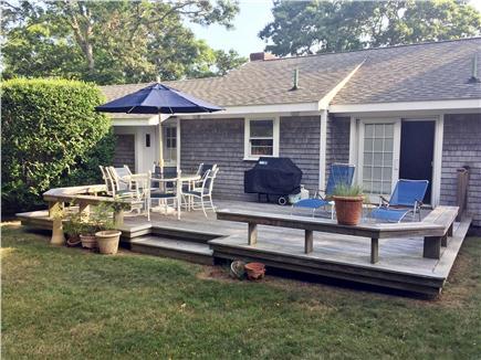 Hyannis Cape Cod vacation rental - Rear Deck