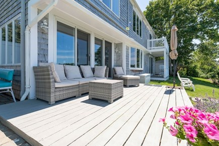 West Dennis Cape Cod vacation rental - Comfortable wicker seating