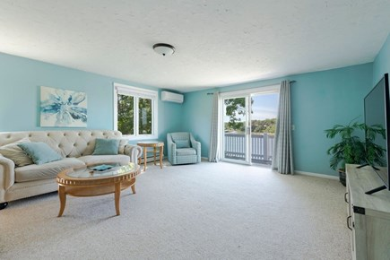 West Dennis Cape Cod vacation rental - Spacious family room with slider to deck second floor