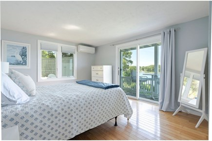 West Dennis Cape Cod vacation rental - Queen master bedroom first floor, with private deck